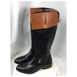 Knee High Zippered Buckle Riding Boots NIB Size 11